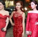 Sao Việt chuộng sắc đỏ trong mùa Giáng sinh